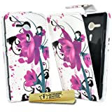 Accessory Master Case for Sony Xperia SP M35H with Lotus Flower Motif Purple
