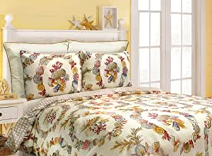 Scent-Sation Coral Wreath Comforter Set, Twin