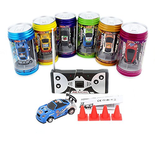 3Pcs/Lot(3Pcs different frequencies) Cans type mini RC car/Portable pocket toy car with 4pcs roadblocks,Color random match (Car In A Can compare prices)