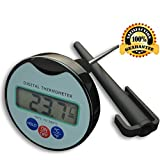 Kiserena Digital Food Thermometer - Professional Quick Read Meat Thermometer for Cooking - Grilling - BBQ - With Long Stainless Steel Probe