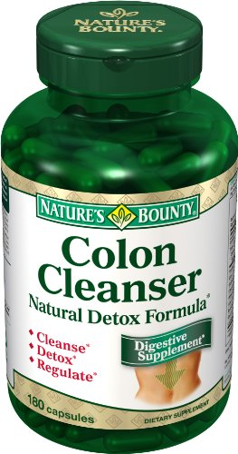 Nature's Bounty Colon Cleanser with Natural Detox Formula, 180 Capsules (Pack of 2)