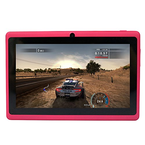 Yuntab 7 8GB Q88 Allwinner A23 Capacitive, Google Android 4.4 ,Tablet PC with Dual core and Dual Camera Google Play Pre-loaded, External 3G ,3D-Game Supported 5 Point Multi Touch Screen Rosy