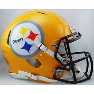 PITTSBURGH STEELERS NFL Riddell Revolution SPEED Football Helmet (GOLD) by ON-FIELD