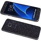 "Galaxy S7 Edge Bling Skin Sticker, Supstar® Premium Glitter Full Body Vinyl Decal [Dustproof, Anti-Scratch] Screen Protector For Samsung Galaxy S7 Edge 5.5"" (Gray Black)"
