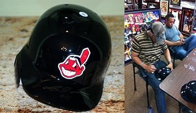 Carlos Santana Signed Cleveland Indians Authentic Batting Helmet COA