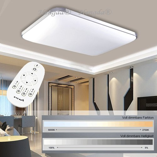 Deckenleuchte led fernbedienung storeamore for Led deckenlampe flach