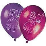 8 Ballons imprimés Princesse Sofia - Taille Unique