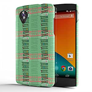 Koveru Back Cover Case for Google Nexus 5 - Green Ladders