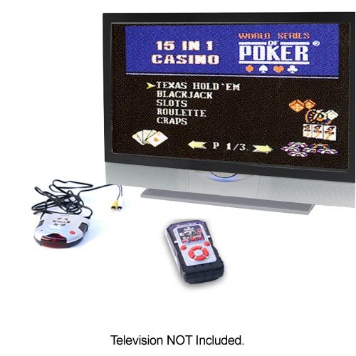 World Series of Poker Wireless Plug and Play 15-in-1 TV Game