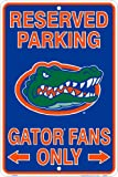 Florida Gators Fans Reserved Parking Sign Metal 8 x 12 embossed at Amazon.com