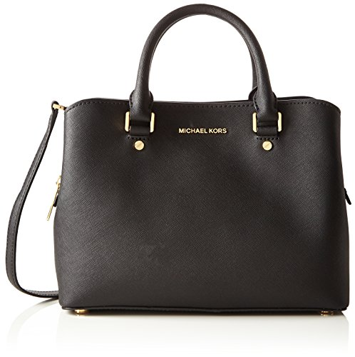 michael-by-michael-kors-savannah-shwarz-medium-handtashe-one-size-schwarz