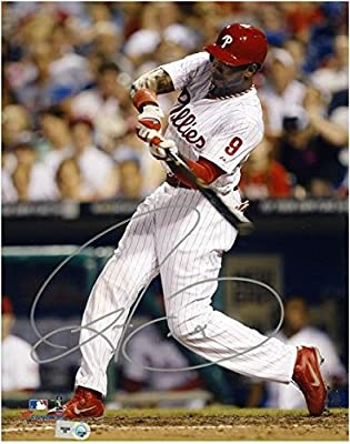 "Domonic Brown Philadelphia Phillies Autographed 8"" x 10"" Vertical Batting Photograph - Fanatics Authentic Certified"