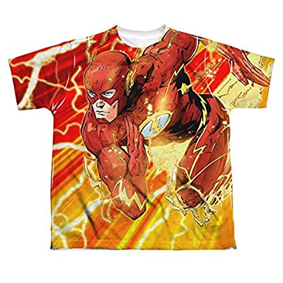 The Flash Lightning Dash All Over Print Youth Front T-Shirt