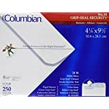 Columbian #10 Security Tinted Envelopes, Grip-Seal, 4-1/8 x 9-1/2 Inch, White, 250 Per Box (CO148)