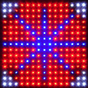 2 Sets X High Power Blue Red Orange White Lamp 225 Led Plant Grow Light 12-Inch Square Panel & Hanging Kit 5Mm Bulb For Indoor Garden Hydroponic Veggie Growth