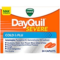 Vicks DayQuil SEVERE Cough Cold and Flu Relief Caplets (24 Count)