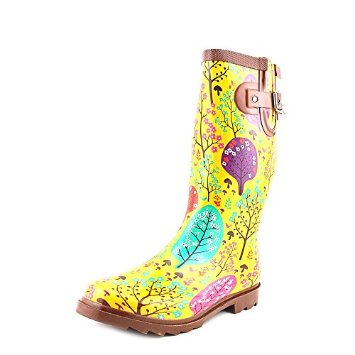 Chooka Women's Forest Blossoms Rain Boot,Yellow,10 M US