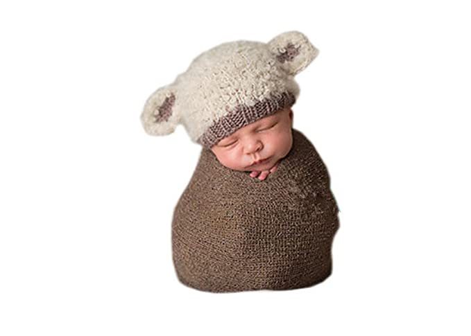 Amazon.com: Pinbo Newbron Baby Photo Photography Prop Crochet Knitted Costume Sheep Hat Caps: Baby