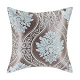 Euphoria Cushion Covers Pillows Shell Contemporary Modern Style Cameo Brown Ground Blue Fox Floral 16