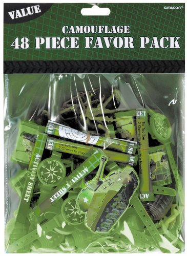 Camouflage Favors Value Pack, 48pc - 1