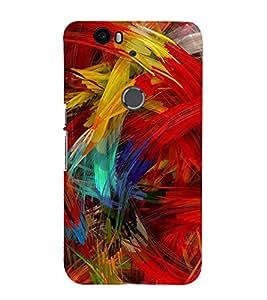 Fuson 3D Designer Back Case Cover For LG Nexus 6P