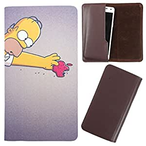 DooDa - For Lava iris 402 PU Leather Designer Fashionable Fancy Case Cover Pouch With Smooth Inner Velvet