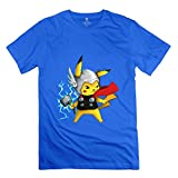 Men's Funny Cartoon T-Shirt M RoyalBlue 100% Cotton Artist Tees Shirt