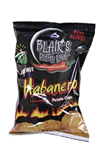 Blair's Death Rain Habanero Kettle Cooked Potato Chips - 1.5 oz bag from Blair's