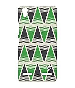 Vogueshell Triangle Pattern Printed Symmetry PRO Series Hard Back Case for Lenovo A6000