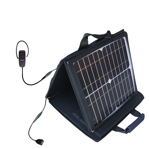Gomadic Sunvolt High Output Portable Solar Power Station Designed For The Samsung Wep700 Bluetooth Headset - Can Charge Multiple Devices With Outlet Speeds
