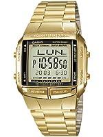 Casio - DB-360GN-9A - Databank - Montre Mixte - Quartz Digital - Cadran LCD - Bracelet Acier plaqué Doré