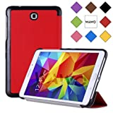 WAWO Samsung Galaxy Tab 4 8.0 Inch Tablet Smart Cover Creative Fold Case - Red