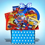 Spiderman Gift Basket Full of Candy and Activities Ideal for Get Well, Birthday and Graduation Gifts for Boys
