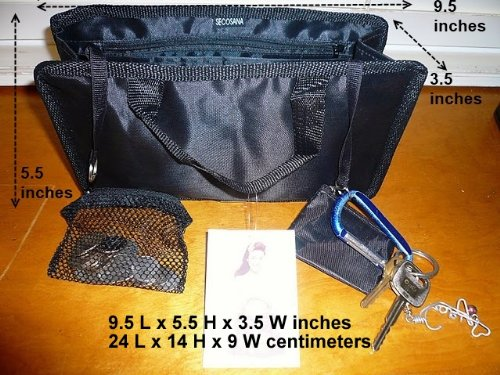 $ 13.99 FREE SHIP USA NEW BLACK Hand bag Purse/Tote Insert Organizer Addon  SWITCH BAGS IN SECONDS!