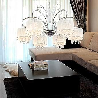 OOFAY LIGHT? Simple and elegant 6-head crystal chandelier ...