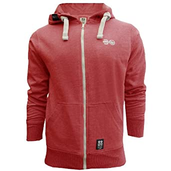 Crosshatch Blowthrough Mens Hoodie - Red Marl - XX Large