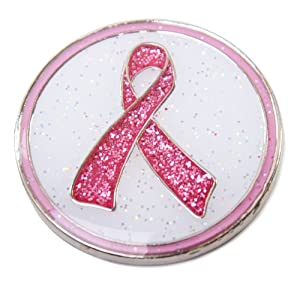Navika Pink Ribbon Glitzy Ball Marker with Hat Clip from Navika USA Inc.