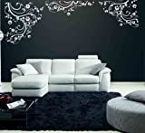 Vinyl Wall Art Decal Sticker Swirl Flower Floral Ornament Design #4