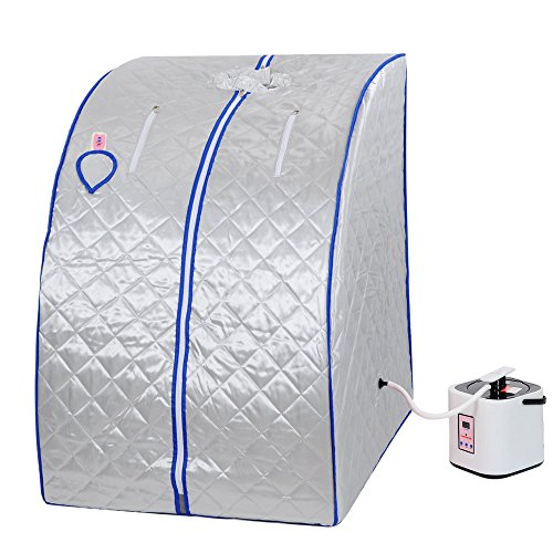 Silver 2L Portable Home Steam Sauna Spa Slimming Full Body Detox Therapy Loss Weight (How Can I Track My Package compare prices)