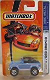 Mattel Matchbox 2007 MBX Metal 1:64 Scale Die Cast Car # 58 - Light Blue 4x4 SUV 1972 Ford Bronco