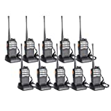 BAOFENG BF-888s Upgraded Two Way Radio BF-230 Pro Handheld Walkie Talkie Transiver 3.7v/1500mAh/400-470MHz US Plug Headphone With Rechargeable Battery(Pack of 10)