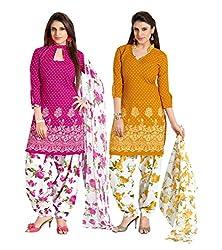 PARISHA Present 2 Pieces combo Printed Un Stitched Patiyala Suit PVVRCC39043-44
