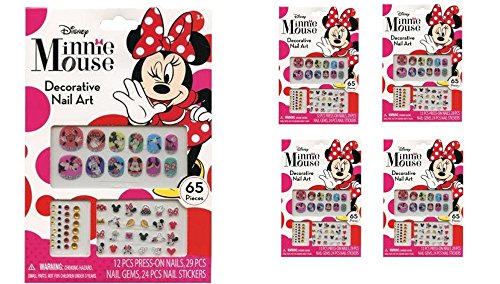 Minnie Mouse 65 pcs Decorative Nail Art Nail Stickers and Gems - 1