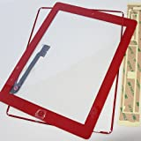 ePartSolution-iPad 3 Touch Screen Digitizer Panel Glass Replacement Part Red USA Seller