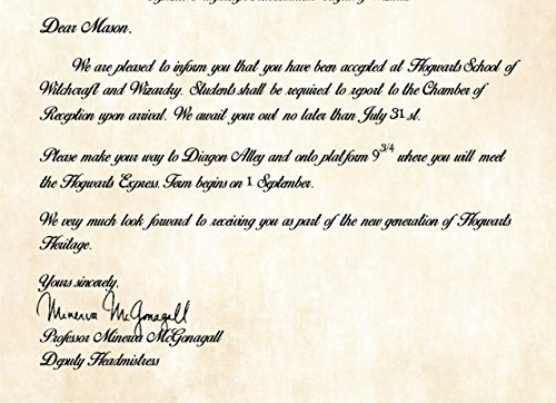 Personalized Harry Potter Acceptance Letter Hogwarts School of – Hogwarts Acceptance Letter