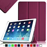 Fintie SmartShell Case for Apple iPad Air (iPad 5 5th Generation) Ultra Slim Lightweight Faux Leather Stand (with Smart Cover Auto Wake / Sleep) - Purple