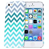 Fosmon MATT Series Rubberized Chevron Case for Apple iPhone 5 / iPhone 5S (Mint)