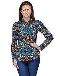Kiosha Full Sleeve Floral Print Shirts for Women-KTVDA536_MULTI