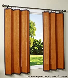 Bamboo Ring Top Curtain Brp12 40 Inch L X 63 Inch H Indoor Outdoor Panel Cedar