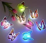 SOLMORE LED Papillon 7 Changement de Couleurs avec Ventouse Guirlande Lumineuses pour Décoration de Mariage / Noël / Fête / Soirée / Anniversaire / Maison...